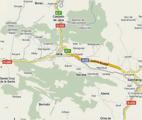 Mapa De Jaca Huesca.Altoaragon Jacetania Jaca Huesca Portal Web